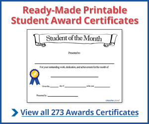 Student Certificate Template from www.certificates4teachers.com